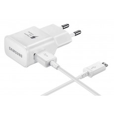 Travel Charger Samsung EP-TA20EWEU with Detachable Cable MIcro USB ECB-DU4EWE White 2000 mAh Fast Charging Original Bulk