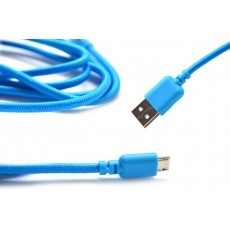 Data Cord Cable Ancus USB to Micro USB with Enhanced Plug-inn Blue