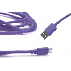 Data Cord Cable Ancus USB to Micro USB with Enhanced Plug-inn Purple
