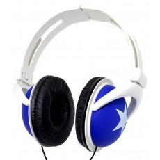 Star Foldable Stereo Headphone 3.5 mm Blue for mp3, mp4 and Sound Devices