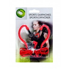 Sport Earphone Ancus 3.5 mm Red for mp3, mp4 and Sound Devices
