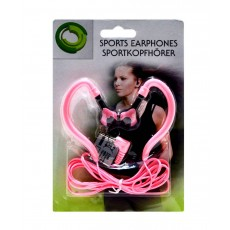 Sport Earphone Ancus 3.5 mm Pink for mp3, mp4 and Sound Devices