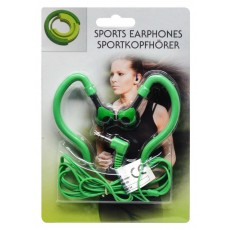 Sport Earphone Ancus 3.5 mm Green for mp3, mp4 and Sound Devices
