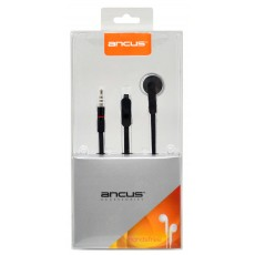 Hands Free Ancus Zeno Mono 3.5 mm for Apple-Samsung-HTC-Sony Black with Answer Button
