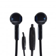 Hands Free Ancus Zeno in-Earbud Stereo 3.5 mm for Apple-Samsung-HTC-Sony Black with Answer,Vo Button