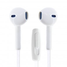 Hands Free Ancus Zeno in-Earbud Stereo 3.5 mm for Apple-Samsung-HTC-Sony White with Answer,Vo Button