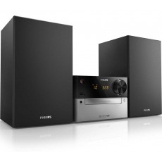 HiFi Micro System Philips 15W MCM2300/12 Silver - Black with MP3 Link and USB Port