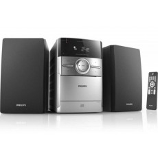 HiFi Micro System Philips 4W MC151 Silver - Black with CD/Cassette