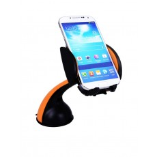 Universal Car Mount Lention 360° Orange for Smartphones 3.5'' to 7'' Inches