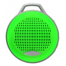 Mini Bluetooth Speaker Mobilis 3W Green with Speakerphone, FM Radio and MP3 Player with Micro SD Me
