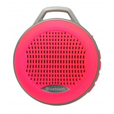 Mini Bluetooth Speaker Mobilis 3W Pink with Speakerphone, FM Radio and MP3 Player with Micro SD Mem