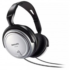 Headphones Stereo TV Philips SHP2500 3.5 mm Silver - Black