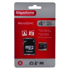Flash Memory Card Gigastone MicroSDHC 4GB Class 4