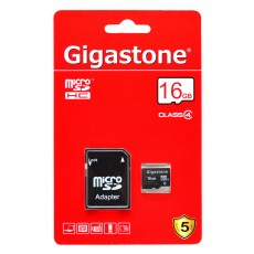 Flash Memory Card Gigastone MicroSDHC 16GB Class 4
