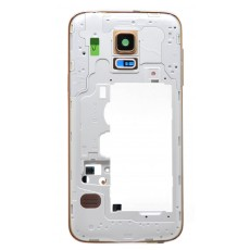 Middle Frame Cover Samsung SM-G800F Galaxy S5 Mini with Jack Conn, Recei and Buzzer Gold Original