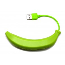 USB 2.0 Hub Banana 4 Port Green