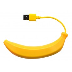 USB 2.0 Hub Banana 4 Port Yellow