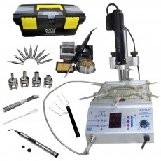 Soldering Station Aoyue Int866 60W 4 in 1 with Hot Air Gun 400W, Pre-Heater 400W, and Vacuum Suction