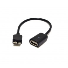 Data Cable Ancus USB 3.0 for Galaxy Note 3 ( Note III )/Galaxy S5  to USB Female OTG Black