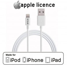 Data Cable Ancus for iPhone/iPad/iPod Lightning White Apple Certified MFI (Compatible with all iOS Upgrades)