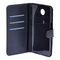 Book Case Ancus Teneo for Motorola Nexus 6 Black