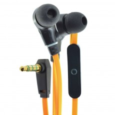 Hands Free Ancus Loop in-Earbud Stereo 3.5 mm for Apple-Samsung-HTC-Sony Orange with Answer Button
