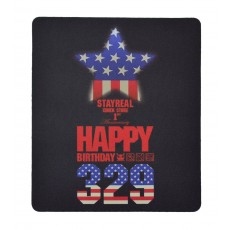 Mousepad Stay Real Black - USA Flag