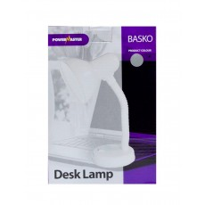 Office Lamp Powermaster Basko with Flexible Arm Silver