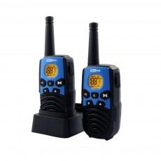 Walkie Talkie Maxcom WT207 Black - Blue with Handsfree Connector   Coverage 5 km