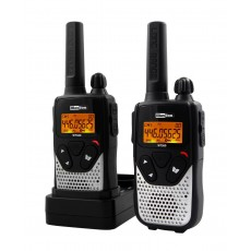 Walkie Talkie Maxcom WT360 Black - Silver with Hands Free   Coverage 10 km
