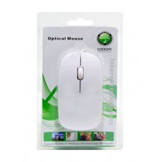 Mobilis 1200 Wired Mouse 3 Button White (113*57*20mm)