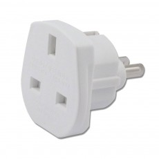 Uk to European Adaptor White