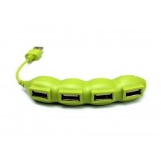 USB 2.0 Hub Peas 4 Port Green