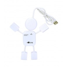 USB 2.0 Hub Human 4 Port White