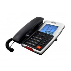 Telephone Maxcom KXT709 Grafite - Silver with Lcd, Speaker Phone and Incoming Ringing Led Indicator