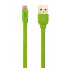 Data Cable Desoficon C10 ICA0020 1.5m 2.4A for iPhone/iPad/iPod Lightning Green Apple Certified MFI