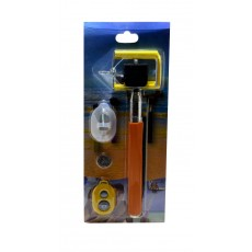 Selfie Stick Monopod Z07-1 5 in1 Extendible Pink Orange (Closed 21cm, with Extention 80cm )
