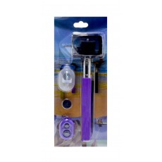 Selfie Stick Monopod Z07-1 5 in1 Extendible Pink Purple (Closed 21cm, with Extention 80cm )
