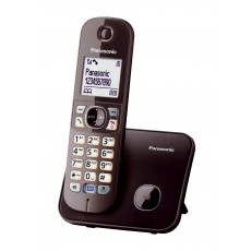 Dect/Gap Panasonic KX-TG6811GRA Mocca Brown with Power Back-Up Operation and ECO mode