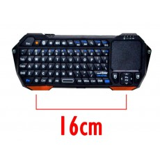 Bluetooth Keyboard Mini IS11-BT05 with Touchpad All-in-One for Smartphone, Tablet, PC, και SmartTV Black