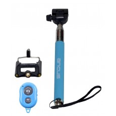 Selfie Stick Ancus Colour Bluetooth Blue with Bluetooth Controller (Closed 20cm, with Extention 97cm )