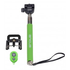 Selfie Stick Ancus Colour Bluetooth Green with Bluetooth Controller (Closed 20cm, with Extention 97cm )