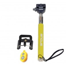 Selfie Stick Ancus Colour Bluetooth Yellow with Bluetooth Controller (Closed 20cm, with Extention 97cm )