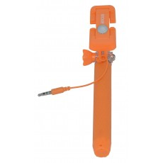 Selfie Stick Ancus Colour Orange with Jack Cable 3.5mm (Closed 13.5cm, with Extention 65cm )