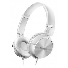 Philips Stereo Headphone DJ-Style Reversible 1000 mW 32mm SHL3060WT 3.5 mm White for mp3, mp4 and sound devices