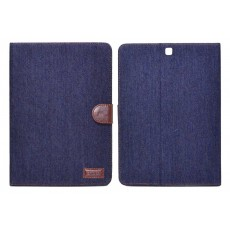 Book Case Ancus Teneo Fabric for Samsung SM-T815/T813 Galaxy Tab S2 9.7 Dark Blue