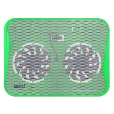 Laptop Cooler CoolCold Ice Thin K19 Green for Laptop up to 17""