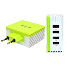 Travel Charger Ancus Multi Charger 4 Usb 4.2A White - Green