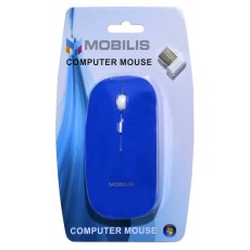 Mobilis MM-131 Wireless Mouse 4 Button 1600 DPI Blue (112*57*35mm)
