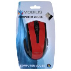 Mobilis MM-126 Wireless Mouse 6 Button 1600 DPI Black - Red (108*70*38mm)